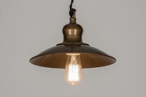 hanglamp 72179: klassiek, industrie, look, roest