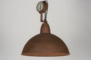 hanglamp 72186: industrie, look, roest, bruin