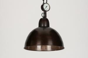hanglamp 72187: industrie, look, roest, bruin