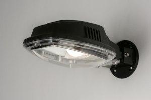 wandlamp 72208: modern, industrie, look, zwart