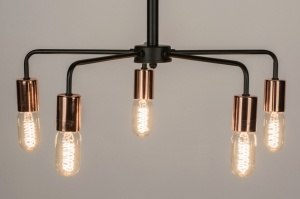 hanglamp 72228: modern, zwart, mat, metaal