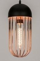 hanglamp 72231: modern, zwart, mat, metaal