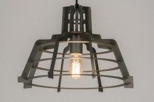 hanglamp 72235: modern, industrie, look, zwart