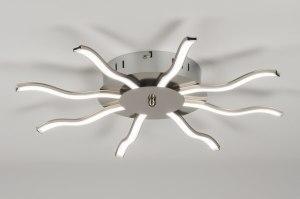 plafondlamp 72335: modern, landelijk, rustiek, staalgrijs