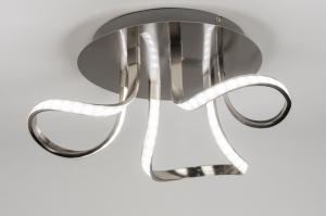 plafondlamp 72369: modern, design, aluminium, aluminium
