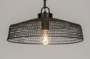 hanglamp 72379: modern, landelijk, rustiek, zwart