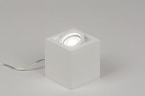 tafellamp 72396: modern, design, wit, mat