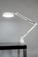 tafellamp 82504: modern, metaal, wit, glans