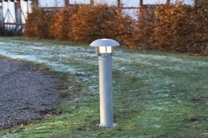 buitenlamp 82912: modern, staalgrijs, metaal, rond