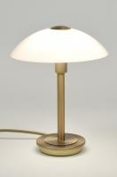 tafellamp 84179: klassiek, roest, bruin, brons