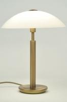 tafellamp 84180: klassiek, roest, bruin, brons