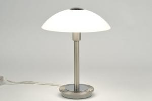 tafellamp 84187: klassiek, eigentijds klassiek, glas, mat glas