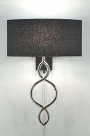 wandlamp 84199: modern, zwart, stof, ovaal