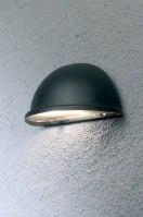 buitenlamp 84878: modern, kunststof, metaal, zwart