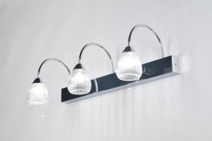 wandlamp 85393: modern, klassiek, glas, helder glas