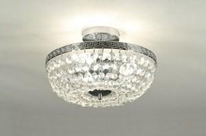 plafondlamp 85638: klassiek, retro, kristal, kristalglas