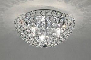 plafondlamp 86801: klassiek, retro, kristal, kristalglas