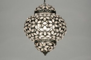 hanglamp 87590: klassiek, kristal, acryl kristal, rond