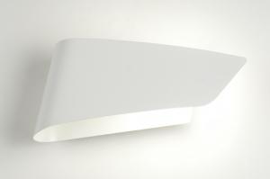wandlamp 87597: modern, design, metaal, wit