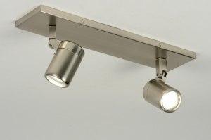 plafondlamp 87883: modern, staal , rvs, rond