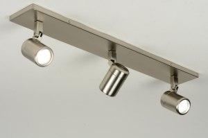 plafondlamp 87885: modern, staal , rvs, langwerpig