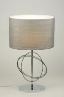 tafellamp 88220: modern, grijs, zilvergrijs, stof