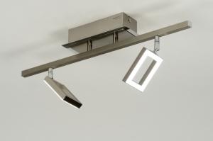 plafondlamp 88742: modern, design, staal , rvs