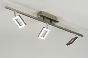 plafondlamp 88743: modern, design, staal , rvs