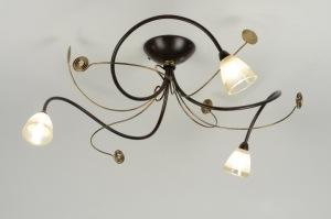 plafondlamp 88821: klassiek, roest, bruin, brons