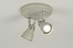 plafondlamp 88917: modern, metaal, rond