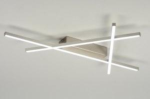 plafondlamp 88934: modern, design, aluminium, kunststof
