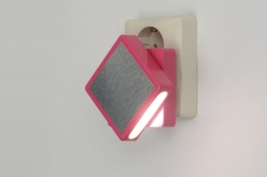 wandlamp 89002: roze, aluminium, kunststof