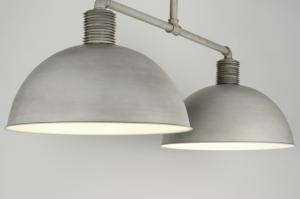 hanglamp 89052: modern, industrie, look, grijs