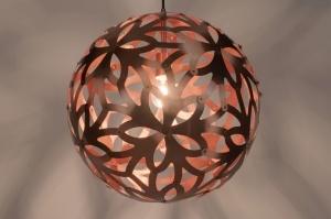 hanglamp 89324: modern, aluminium, rond