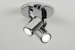 plafondlamp 89384: modern, metaal, rond