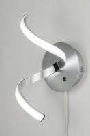wandlamp 89398: modern, design, aluminium, kunststof