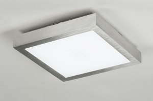 plafondlamp 89401: kunststof, vierkant