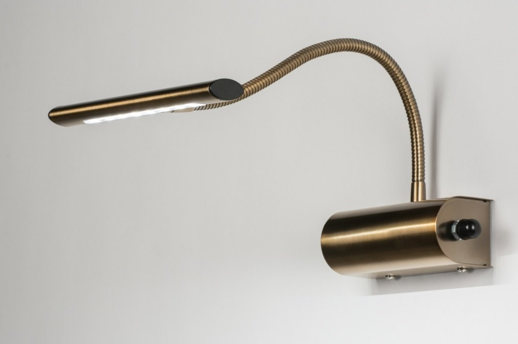 Wandlamp 10105: modern, klassiek, eigentijds klassiek, brons roest bruin #0