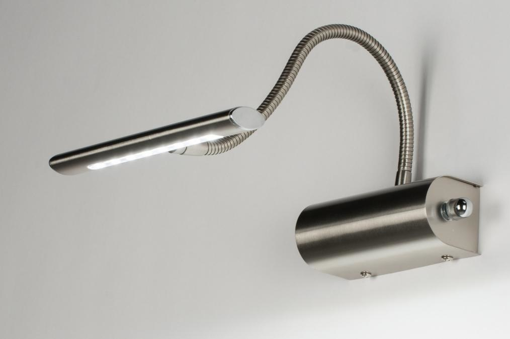 Wandlamp 10106: modern, eigentijds klassiek, staal rvs, metaal #0