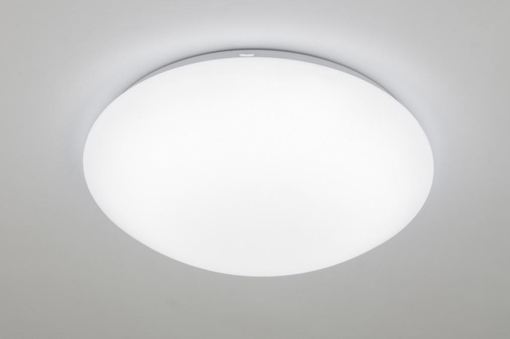 Keuken Plafondlamp : Lampara De Techo 10163: Material Sinteticos, Blanco, Redonda