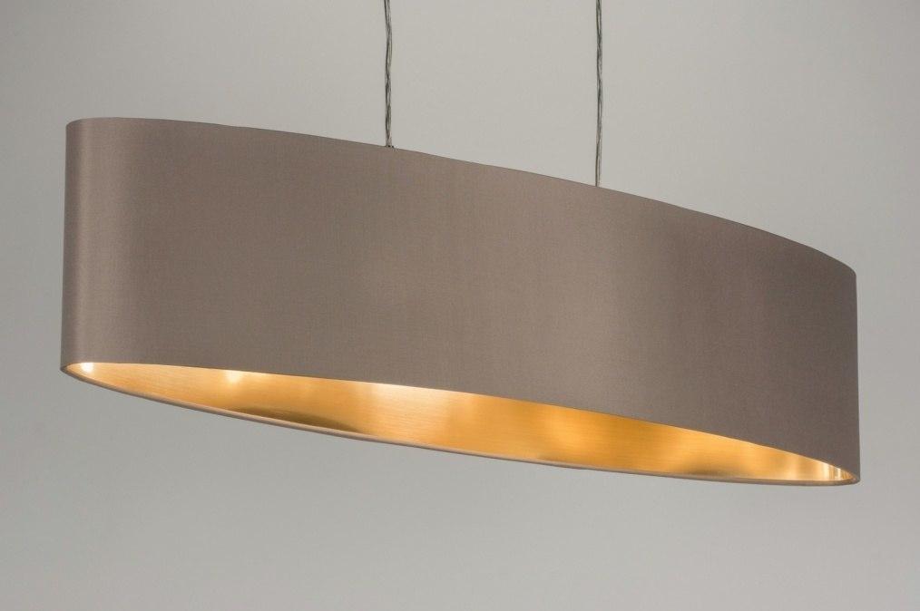 Pendelleuchte 10182 laendlich rustikal modern for Pendelleuchte oval stoff