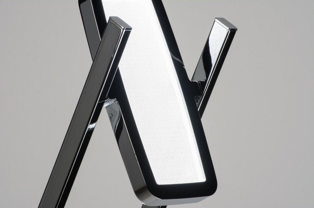 stehleuchte 10259 modern design chrom metall. Black Bedroom Furniture Sets. Home Design Ideas