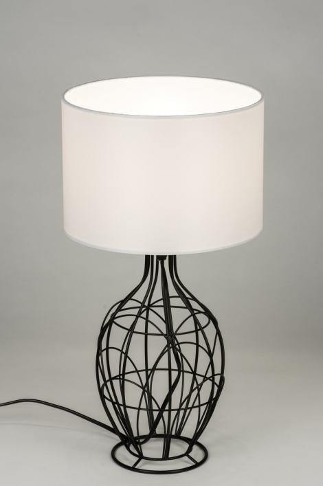 tischleuchte 10289 modern zeitgemaess klassisch laendlich rustikal weiss. Black Bedroom Furniture Sets. Home Design Ideas
