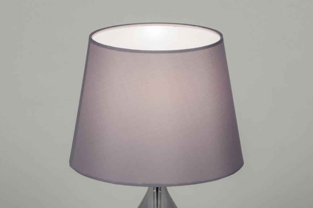 Tafellamp 10301 modern eigentijds klassiek grijs glas - Eigentijds huis grijs ...