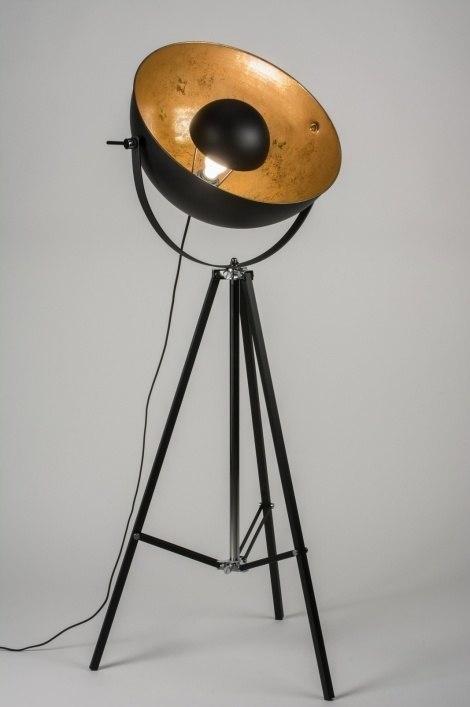 Vloerlamp 10356: modern, eigentijds klassiek, retro, goud #0