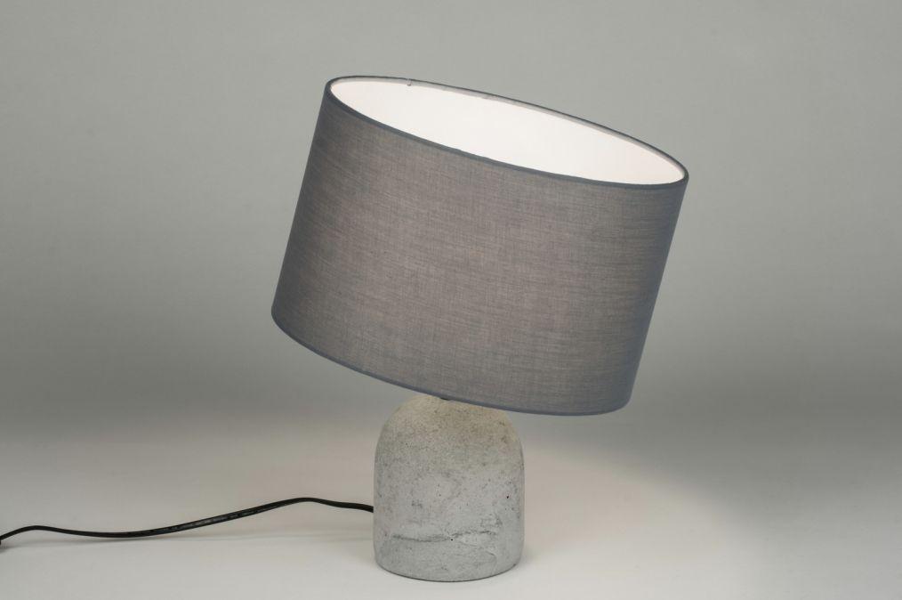 tischleuchte 10360 modern laendlich rustikal grau beton. Black Bedroom Furniture Sets. Home Design Ideas
