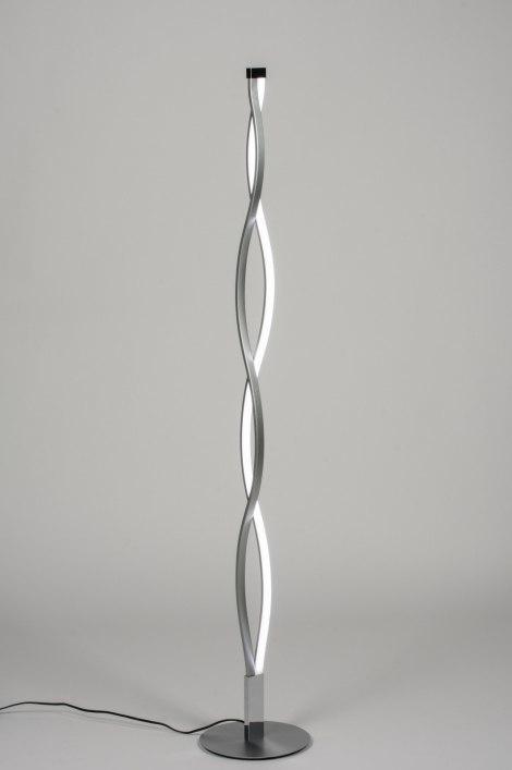 Vloerlamp 10390: modern, design, zilvergrijs, metaal #0