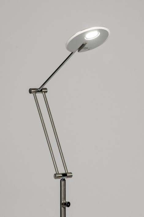 Vloerlamp 10394: design, modern, staal rvs, metaal #0