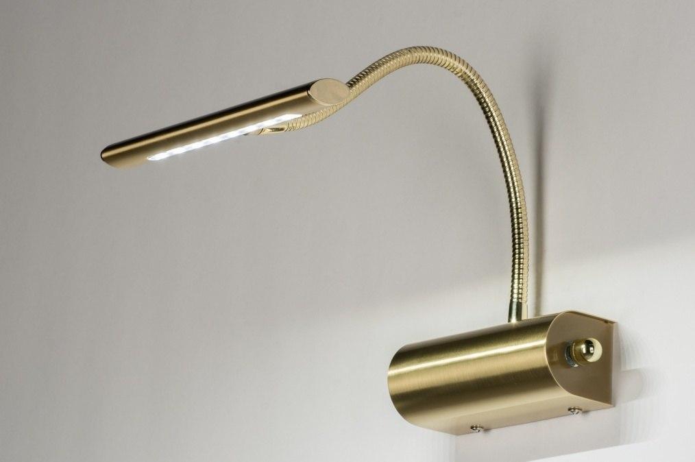 Wandlamp 10398: modern, klassiek, eigentijds klassiek, goud #0