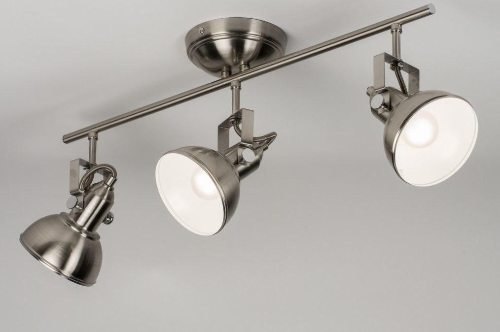 Plafondlamp 10444: eigentijds klassiek, landelijk, rustiek, staalgrijs #0